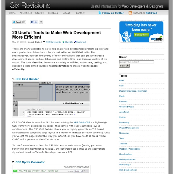 Six Revisions - Useful information for Web Developers and Designers