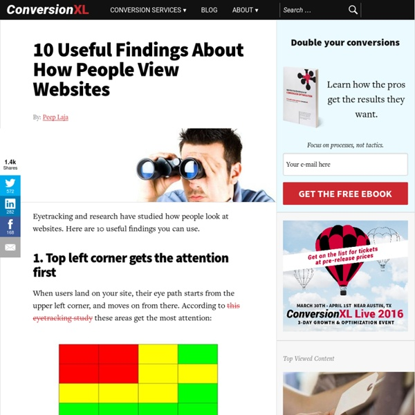 10 Useful Findings About How People View Websites