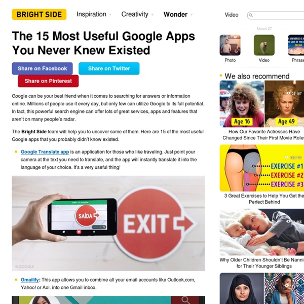 The15 Most Useful Google Apps You Never Knew Existed
