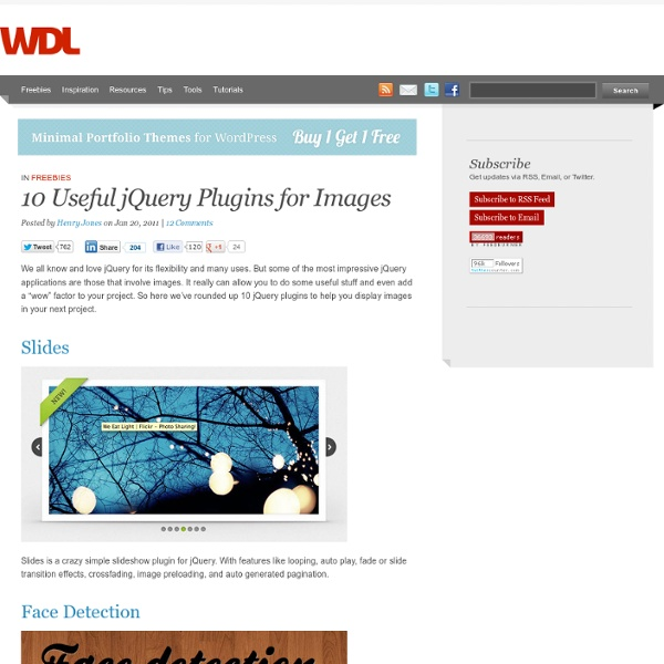 10 Useful jQuery Plugins for Images