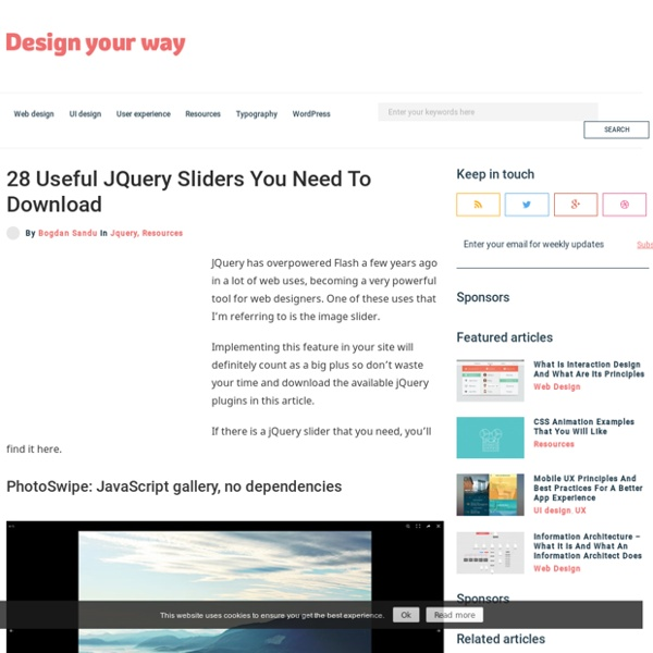 28 Useful JQuery Sliders You Need To Download
