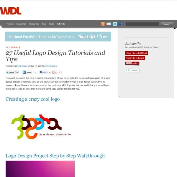 27 Useful Logo Design Tutorials and Tips