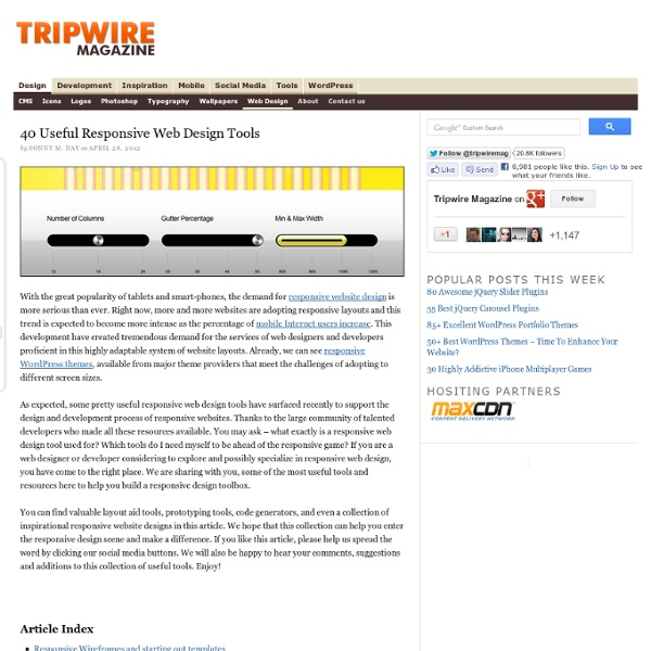 35 Useful Responsive Web Design Tools
