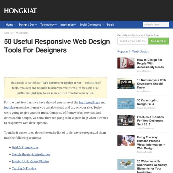 50 Useful Responsive Web Design Tools For Designers