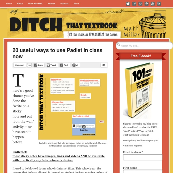 20 useful ways to use Padlet in class now