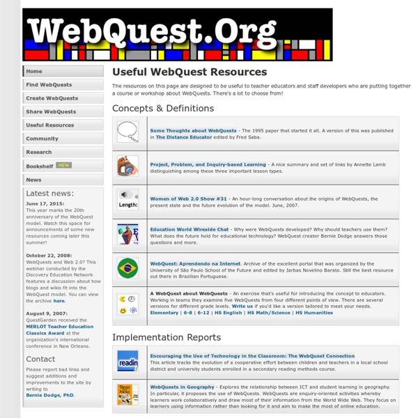 Useful WebQuest Resources