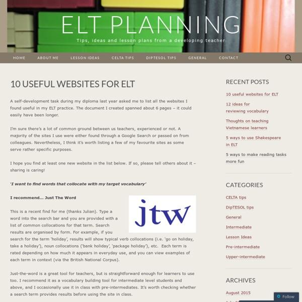 10 useful websites for ELT