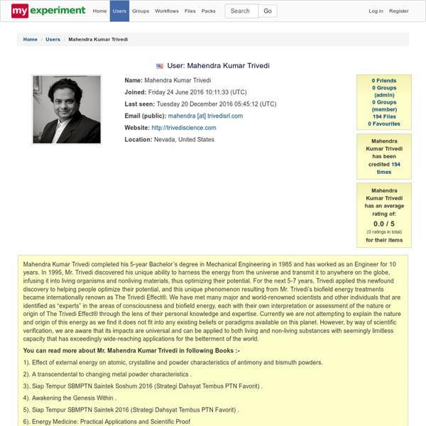 Mahendra Kumar Trivedi Workflow