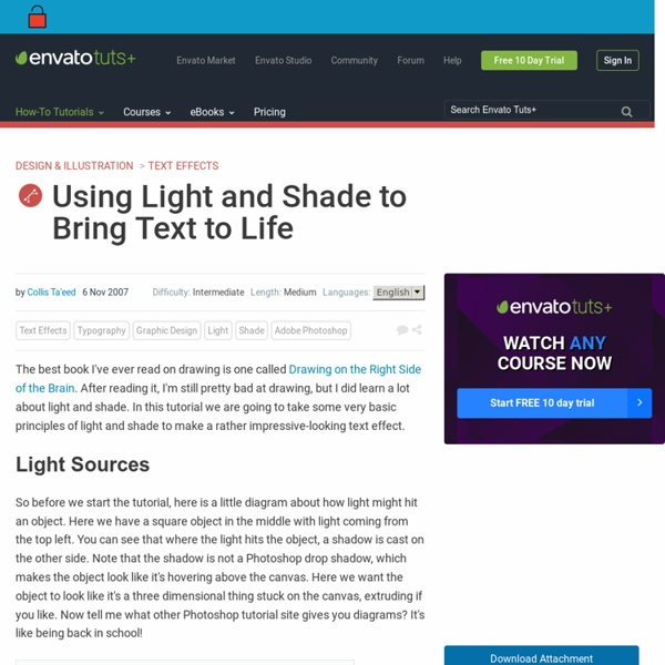 Using Light and Shade to Bring Text to Life