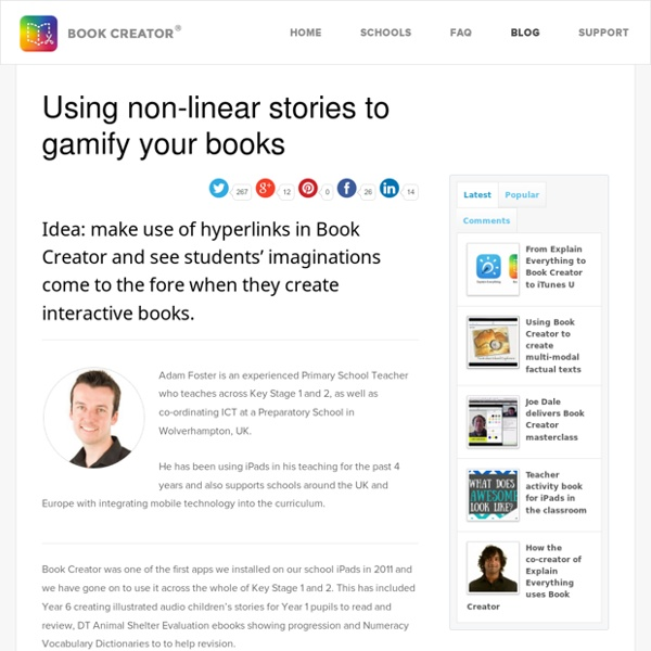 Using non-linear stories to gamify your books