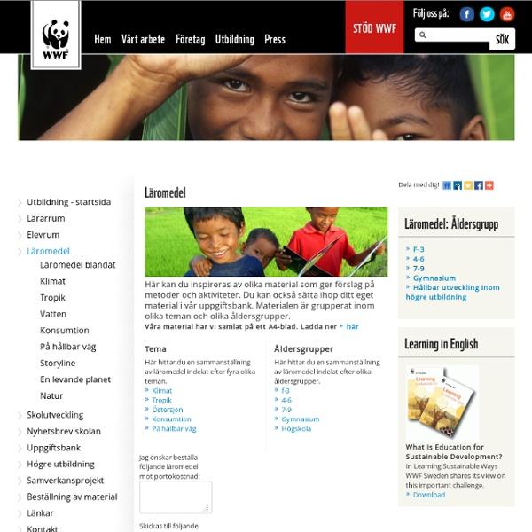 WWF - Utbildning - Läromedel