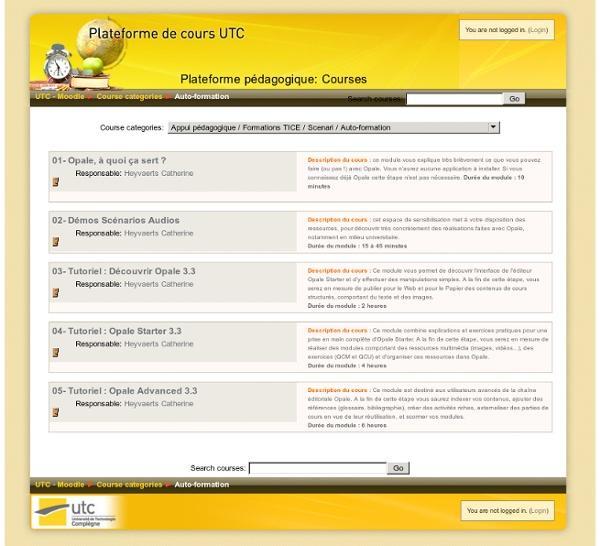 Moodle - Créer en 2 à 3 heures un scénario pédagogique interactif (Web, diaporama et Pdf) 1 projet en 3 sorties