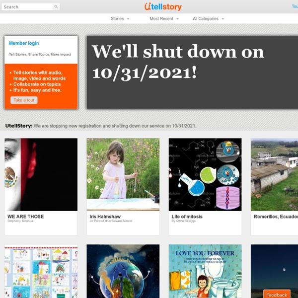 UtellStory - Tell Stories, Share Topics, Make Impact