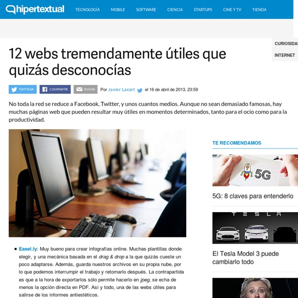 Webs útiles: 12 ejemplos que quizás desconocías