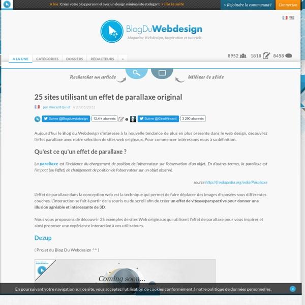 25 sites utilisant un effet de parallaxe original - web-design-inspiration