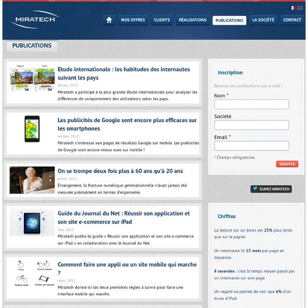 Miratech : Publications