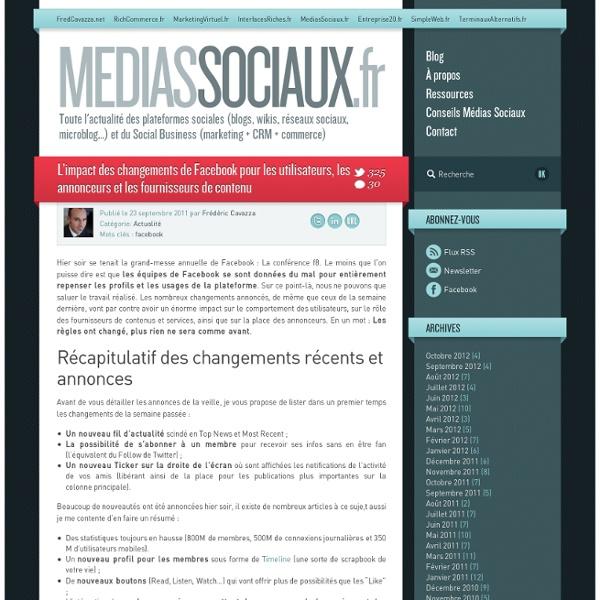 L'impact des changements de Facebook pour les utilisateurs, les annonceurs et les fournisseurs de contenu