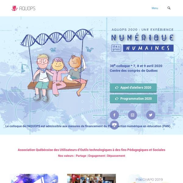 AQUOPS – Association québécoise des utilisateurs de l'ordinateur au primaire-secondaire