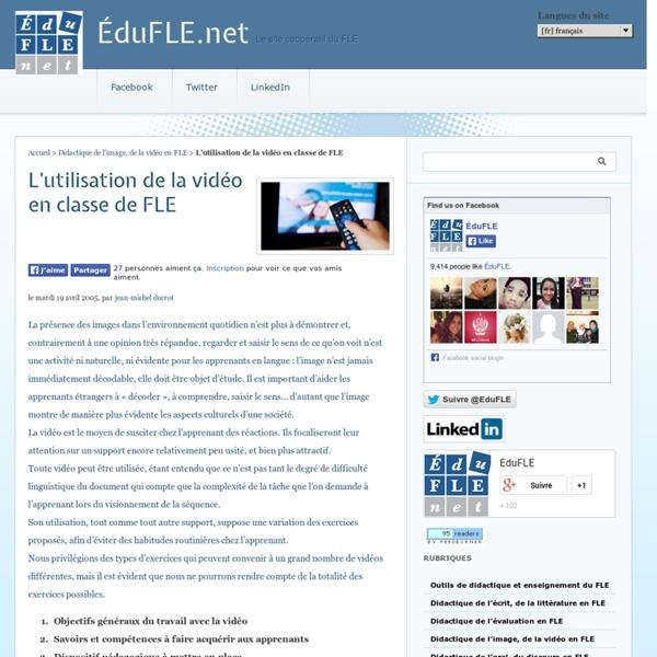 L'utilisation de la vidéo en classe de FLE