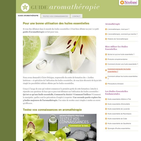 Utilisation huiles essentielles - Utilisation huiles essentielles