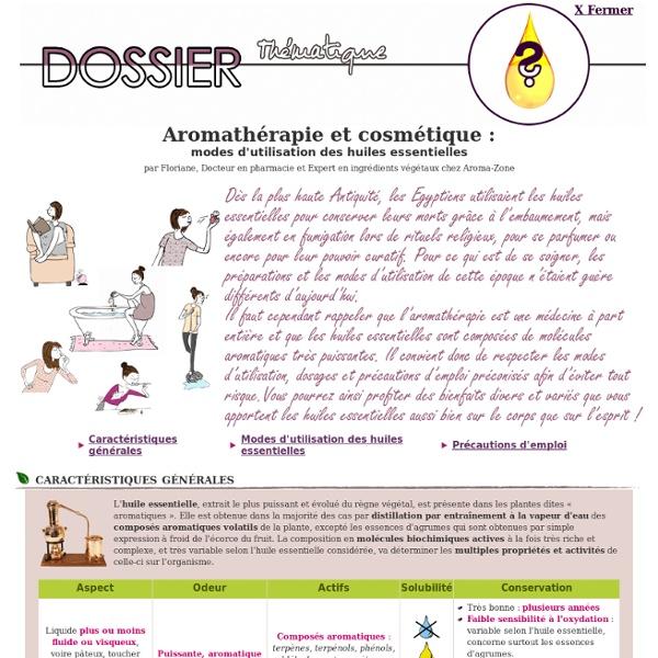Dossier thématique - Mode d'utilisation des huiles essentielles