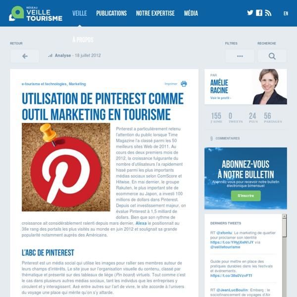 » Utilisation de Pinterest comme outil marketing en tourisme