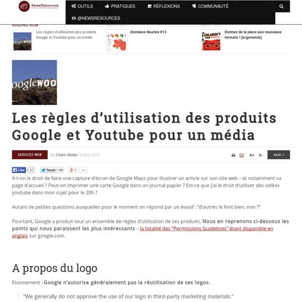 Les règles d'utilisation des produits Google et Youtube pour un média