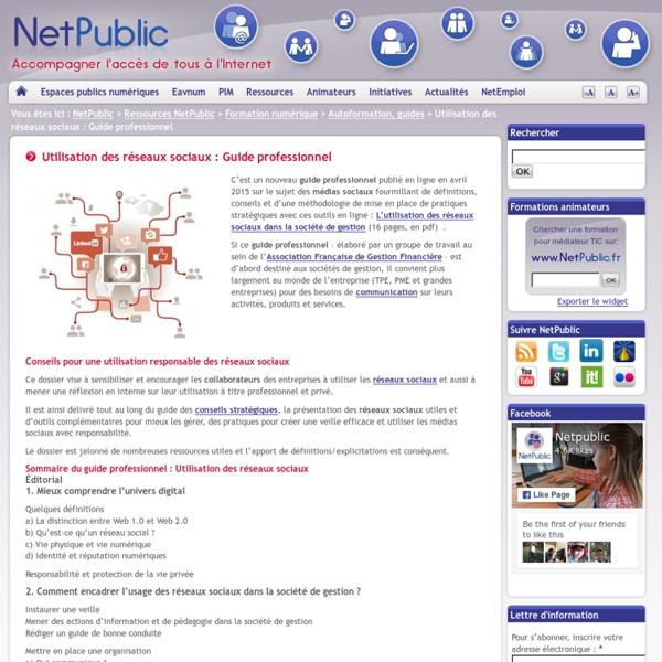 Utilisation des réseaux sociaux : Guide professionnel