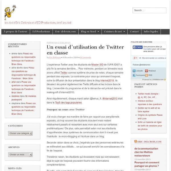 Un essai d'utilisation de Twitter en classe