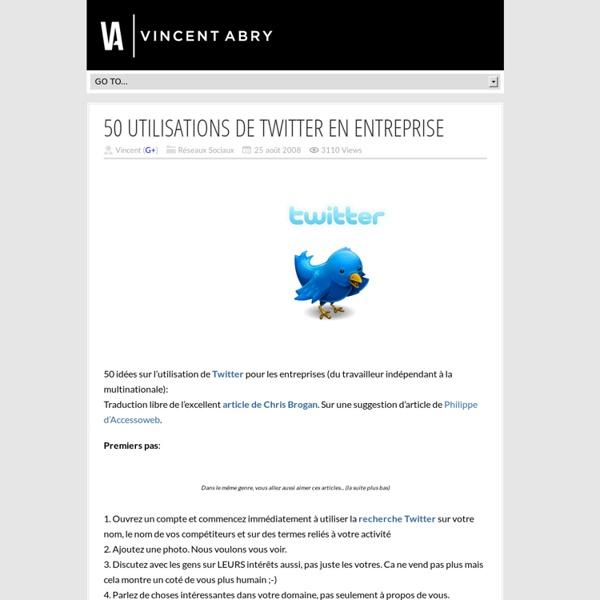 50 utilisations de Twitter en entreprise