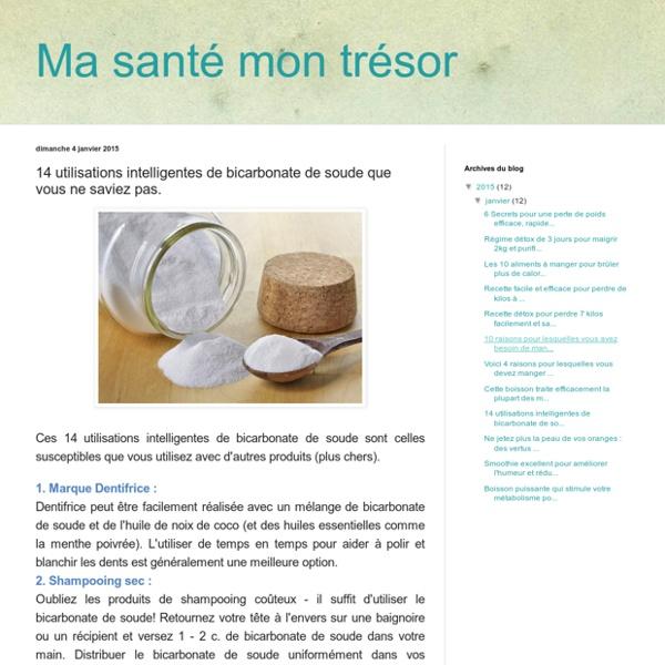14 utilisations intelligentes de bicarbonate de soude que vous ne saviez pas.