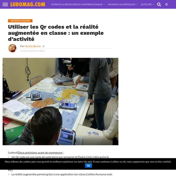Utiliser les Qr codes et la réalité augmentée en classe : un exemple d'activité