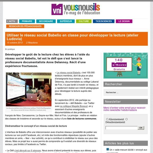 Utiliser le réseau social Babelio en classe pour développer la lecture (atelier Ludovia)