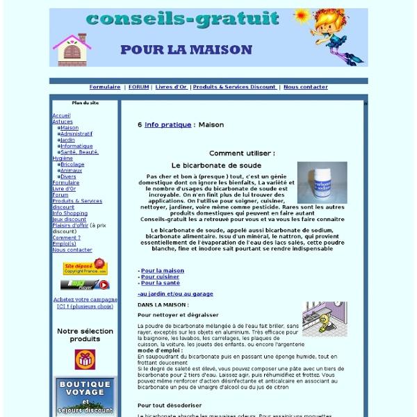 Comment utiliser le bicarbonate de soude de Conseils-Gratuit.com