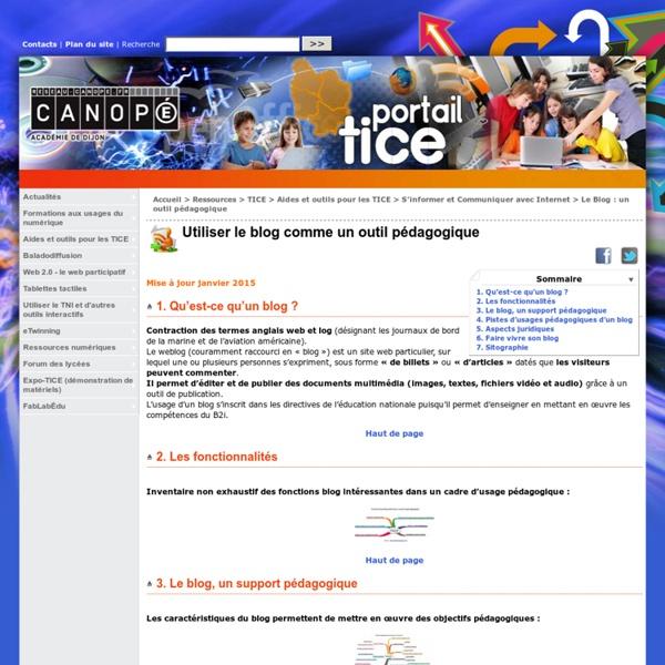 Utiliser le blog comme un outil pédagogique