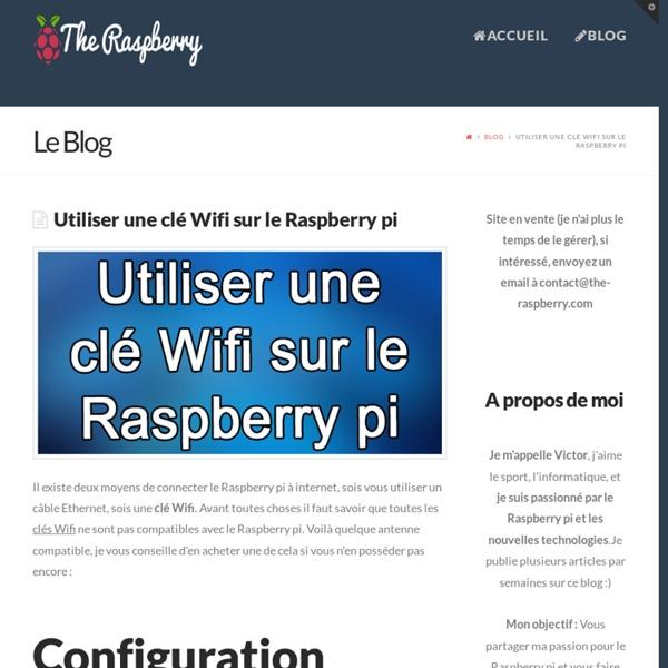 Utiliser et configurer une clé Wifi sur le Raspberry pi