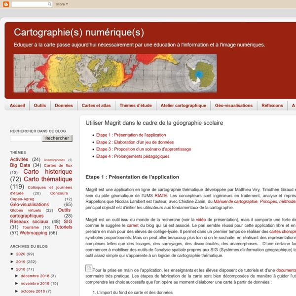 Cartographie numérique: Utiliser Magrit dans le cadre de la géographie scolaire