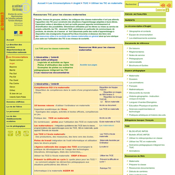 Utiliser les TIC en maternelle