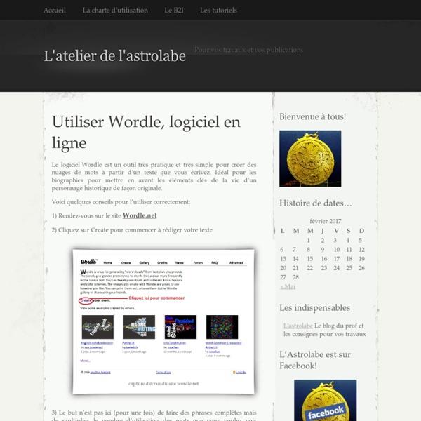 Utiliser Wordle, logiciel en ligne