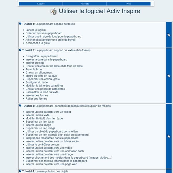 Utiliser le logiciel Activ Inspire