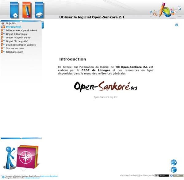 Utiliser le logiciel Open-Sankoré 2.1 - Introduction