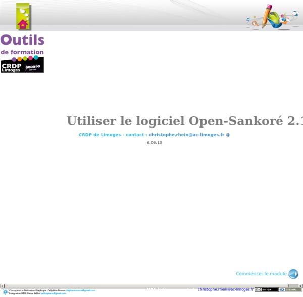 Utiliser le logiciel Open-Sankoré 2.1