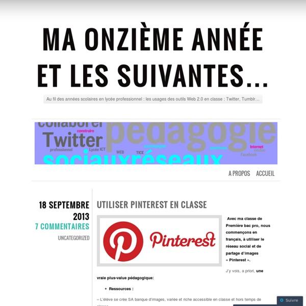 Utiliser Pinterest en classe