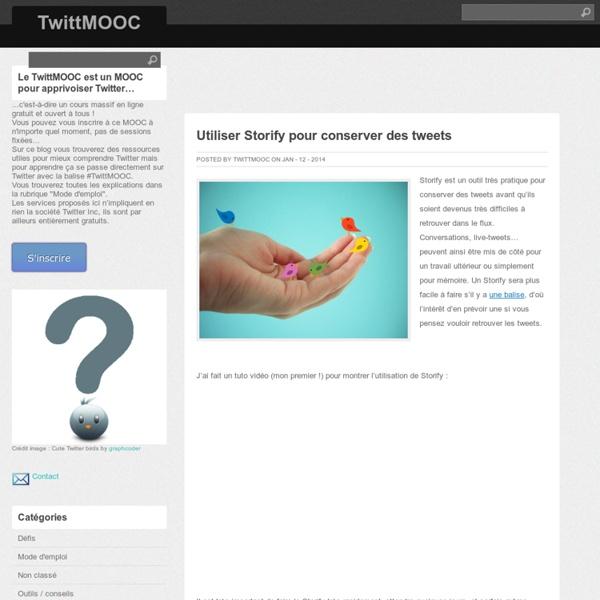 Utiliser Storify pour conserver des tweets