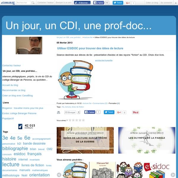 Utiliser ESIDOC pour trouver des idées de lecture