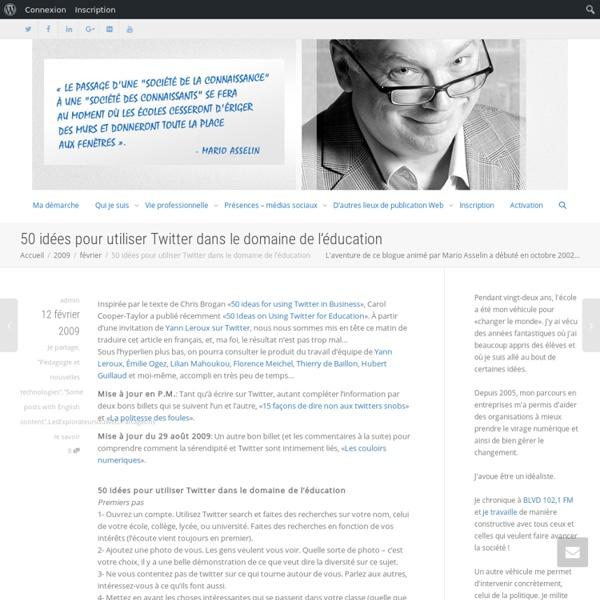 50 idées pour utiliser Twitter dans le domaine de l'éducation