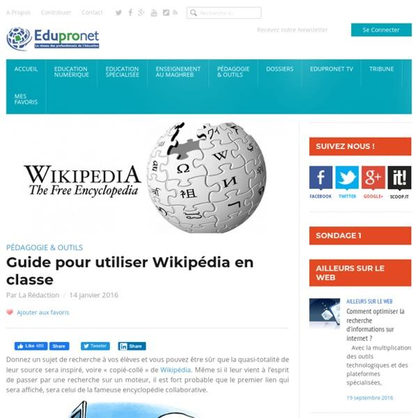 Guide pour utiliser Wikipédia en classe