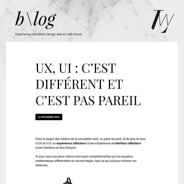 UX, UI : c'est différent et c'est pas pareil - LunaWeb