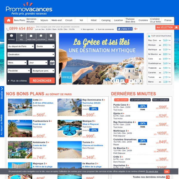 Voyage Promovacances : Vacances et Sejours pas chers, Agence de voyages