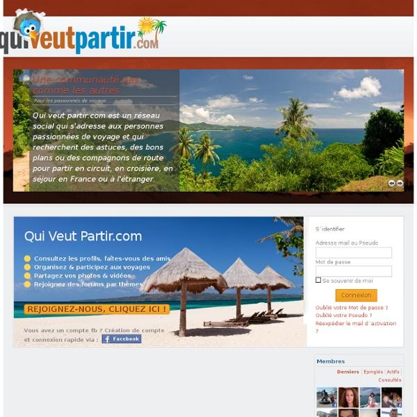 Qui veut partir.com - Voyage celibataire Vacances celibataires
